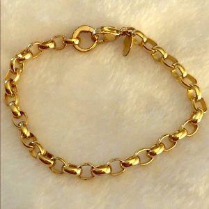 Authentic Origami Owl Gold Charm Bracelet